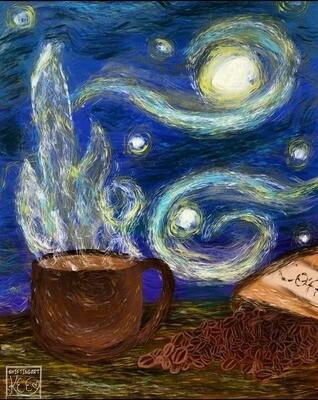 Caffeinated Dreams (Vinyl Sticker)