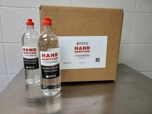 Hand Sanitizer, 1 Litre Bottles, case of 12