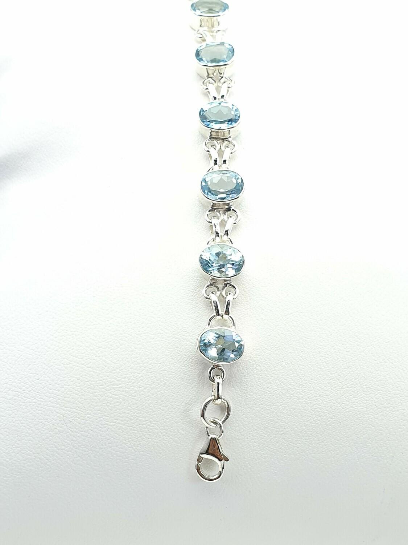 Topaz and Silver bracelet