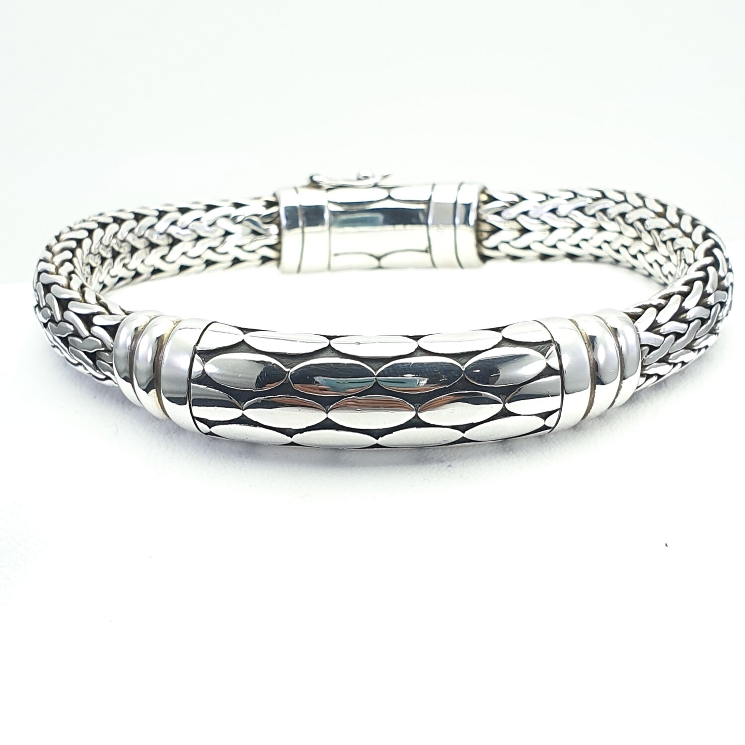 Cracked earth Silver Bracelet
