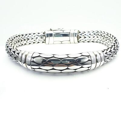 Cracked earth Silver Bracelet