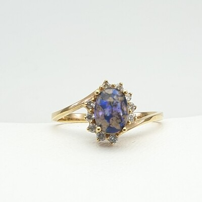 Ring, Gold Opal
