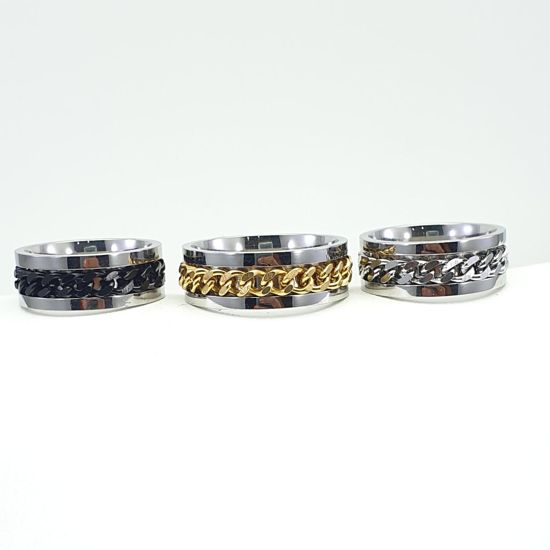 Ring, stainless steel spinner