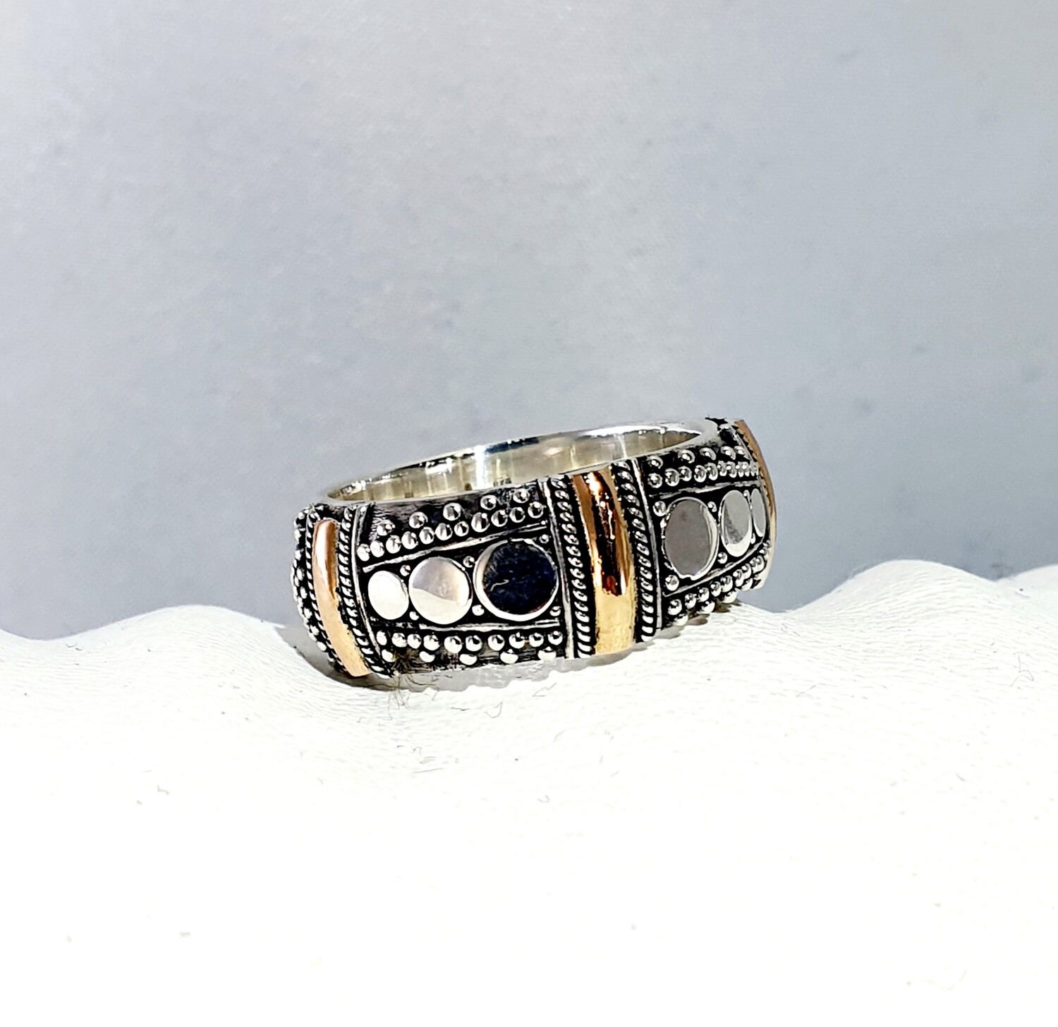 Silver and Rose Gold ring
