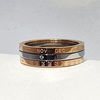 Stainless Calendar Ring