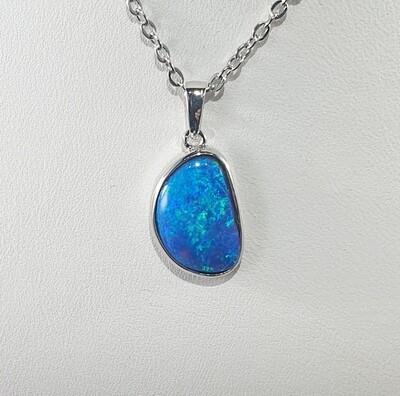 Black Opal doublet pendant