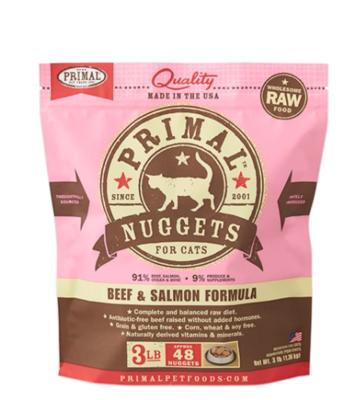 Primal Cat Frozen Nugget Beef & Salmon