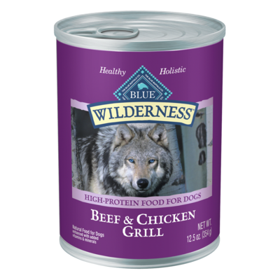 Blue Buffalo Wilderness Beef Chicken Grill Dog Can