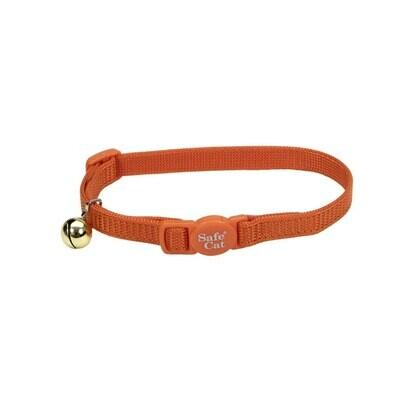 Coastal Cat Adjustable Breakaway Safety Collar Sunset Orange