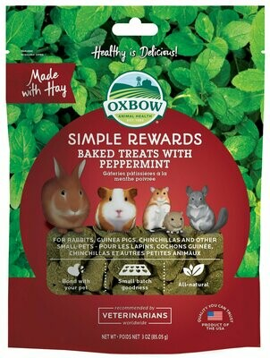 Oxbow Simple Reward Peppermint 3Oz