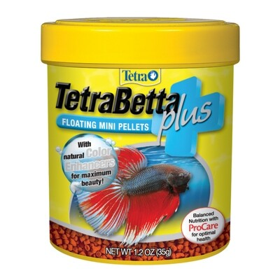 Tetra Betta Plus Mini Pellets 1.2 oz
