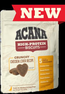 Acana Dog Chicken Liver Large Treat 9oz Crunchy Biscuit