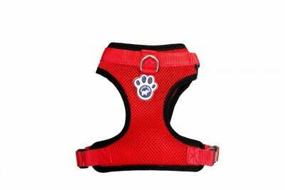 Canada Pooch Dog Everything Harness Mesh Red