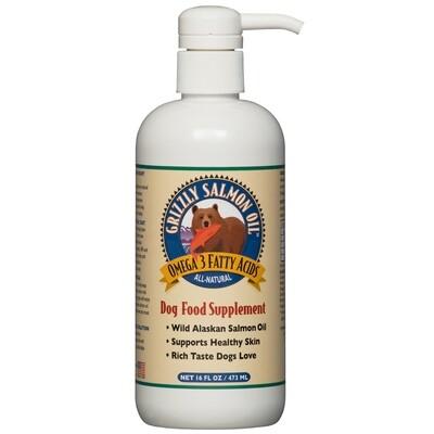 Grizzly Dog Cat Salmon Oil plus 8oz