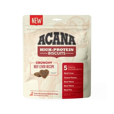 Acana Beef Liver Small Treat 9oz Crunchy Biscuits