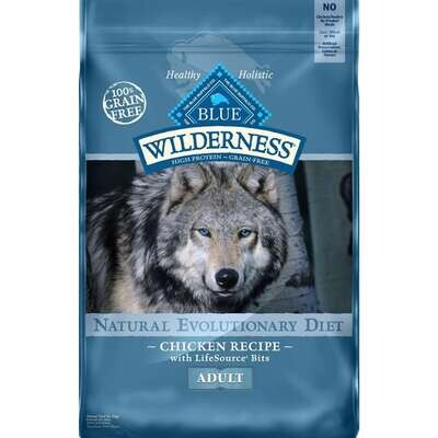 Blue Buffalo Wilderness Chicken with Grain Dog Food 24 lb