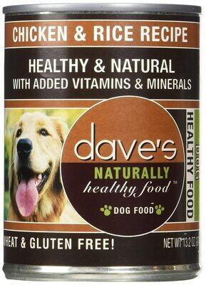 Dave's Pet Food Dog Chicken Rice Recipe 13.2 oz