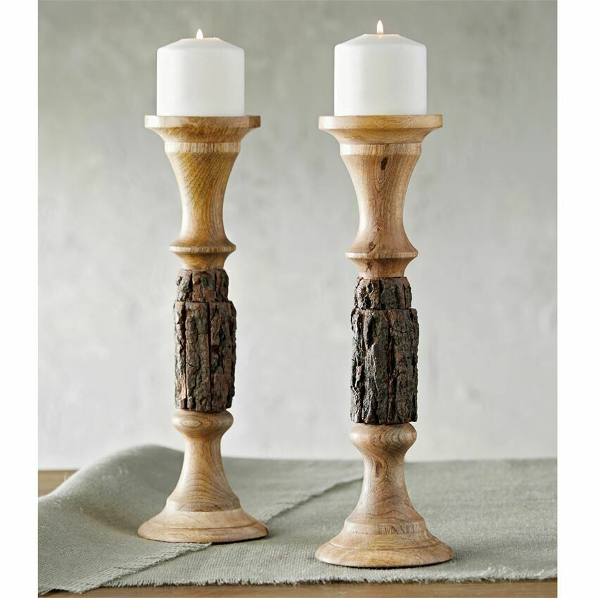 Bark Candle Holder