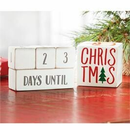 Mud Pie Holiday Countdown Block Set