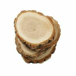Mud Pie Wood Slice Coaster Set