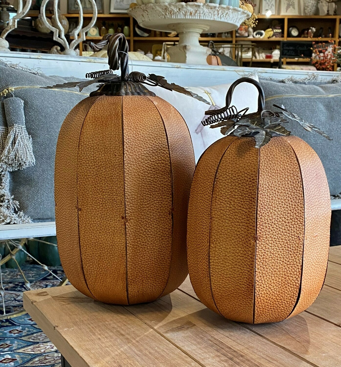 Split Leather Pumpkin