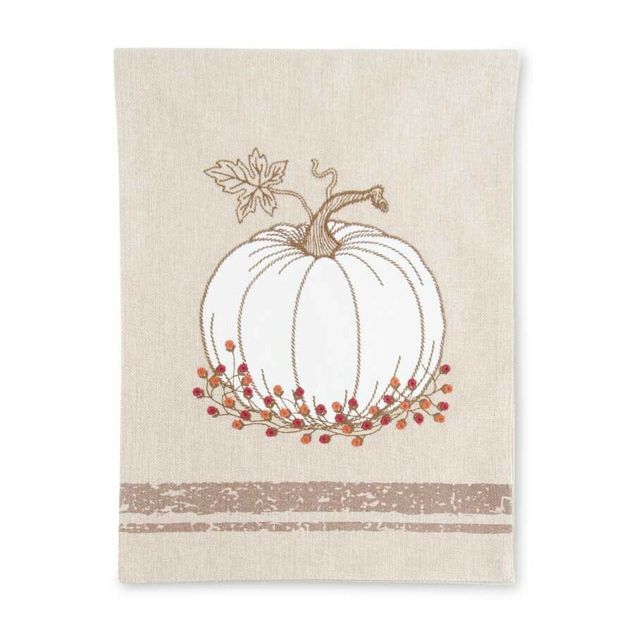 """72"""" Runner with Embroidered Pumpkins"""