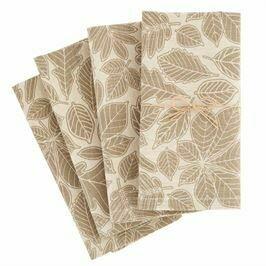 Leaf Cloth Napkin Set/4