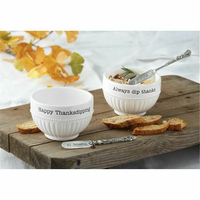 Mud Pie Thanksgiving Dip Cup Set