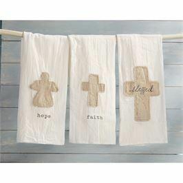 Mud Pie Blessed Cross Cotton Towel