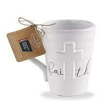 Mud Pie Faith Cross Mug
