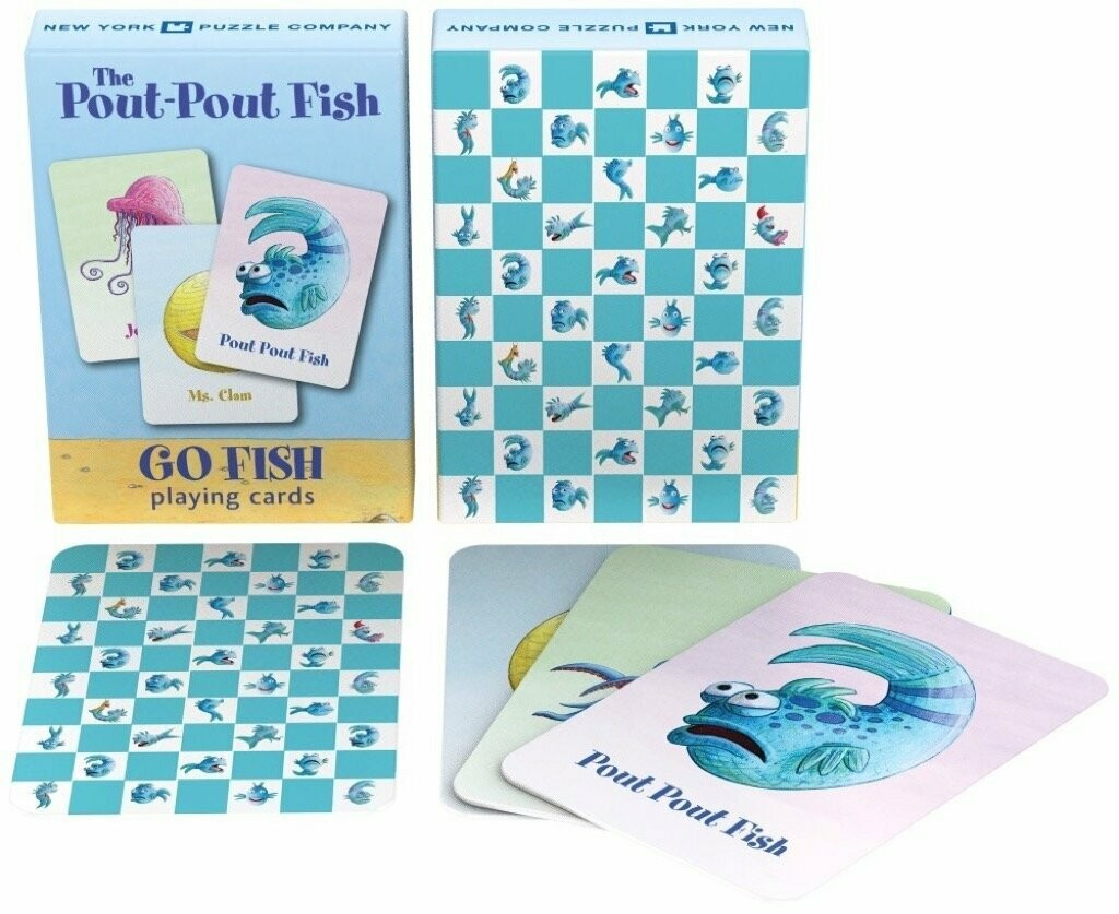 New York Puzzle Company Pout Pout Go Fish Card Game