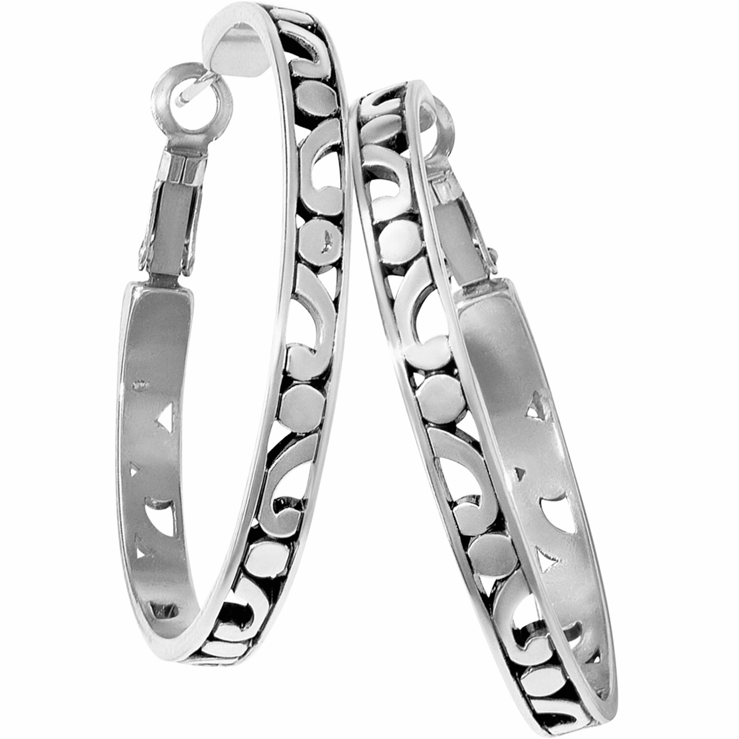 Contempo Large Hoop Earrings