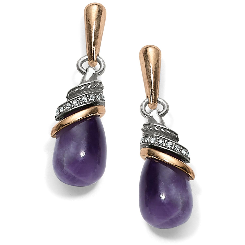 Neptune's Rings Amethyst Teardrop Earrings