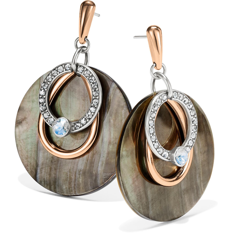 Neptune's Rings Shell Post Drop Earrings