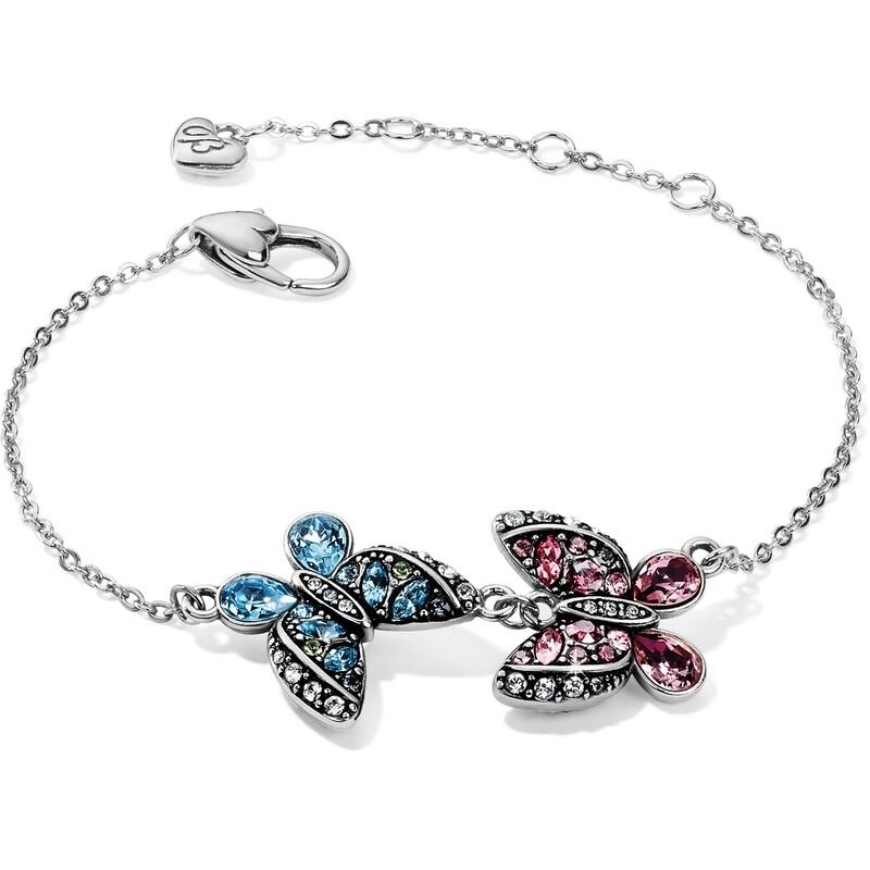 Trust Your Journey Love Butterflies Reversible Bracelet