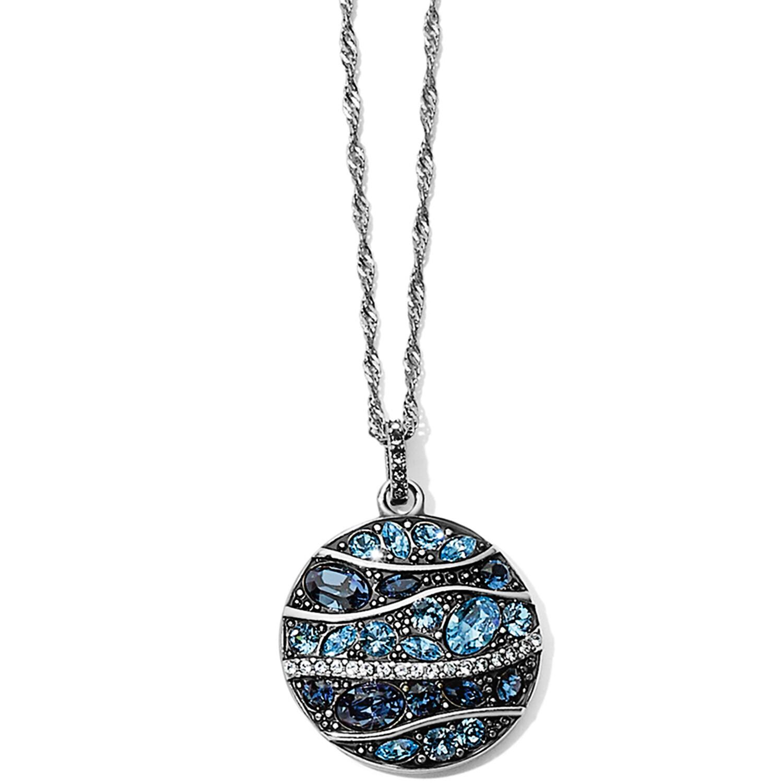 Trust Your Journey Wave Pendant Necklace
