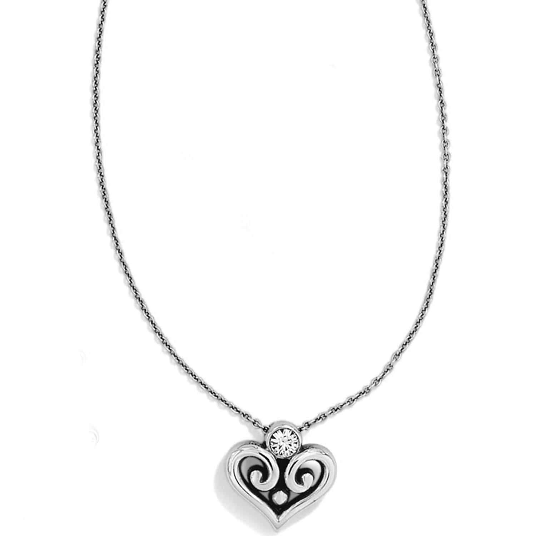 Silver-Stone Alcazar Heart Necklace