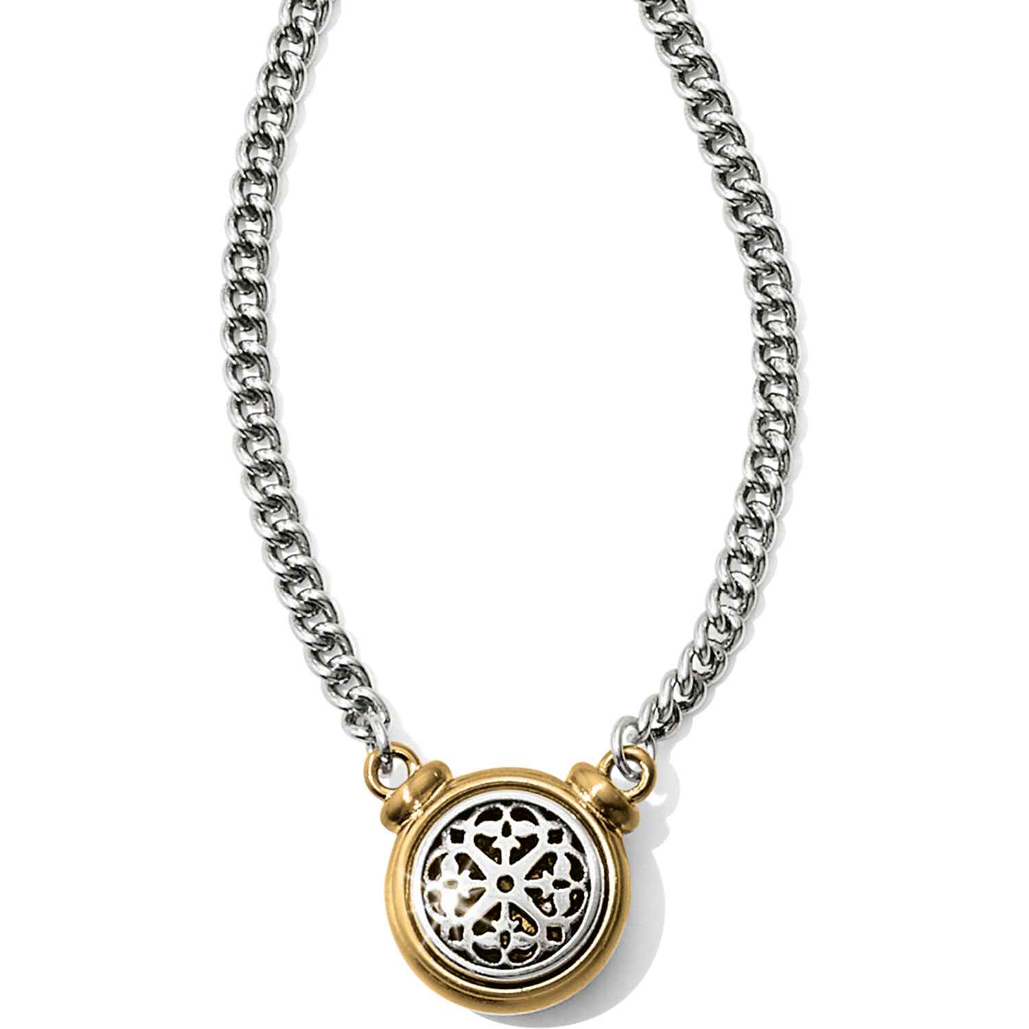 Ferrarra Two-Tone Short Necklace
