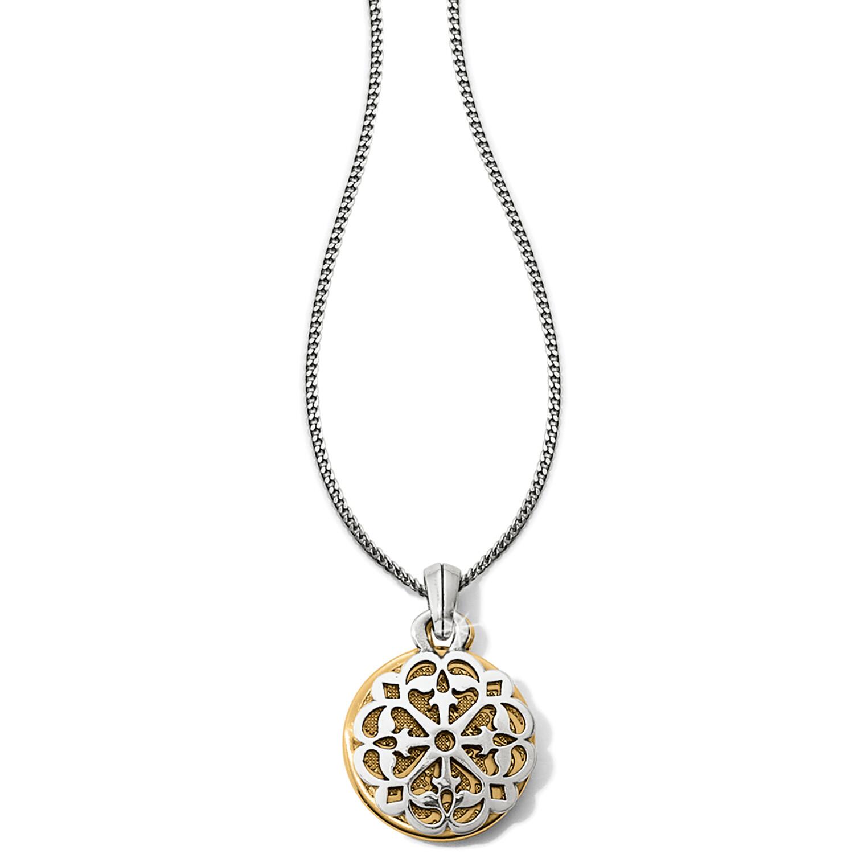 Ferrarra Two Tone Reversible Long Necklace