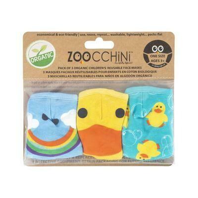 Zoocchini Toddler/Kids 3 Piece Organic Reusable Face Mask Set