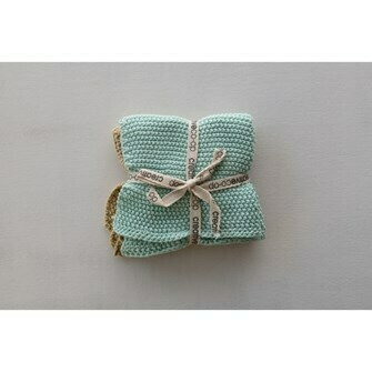 Square Knit Washcloths Set of 2