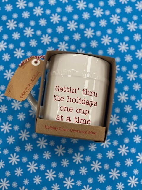Mud Pie Oversized Christmas Mug
