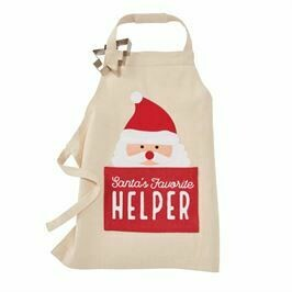 Mud Pie Santa Apron w/ Cookie Cutter