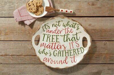 Mud Pie Christmas Farmhouse Cookie Plate