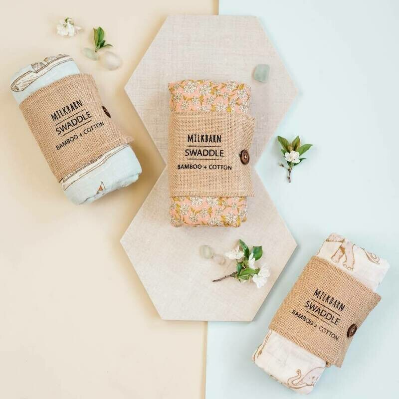 Milk Barn Swaddle Blanket
