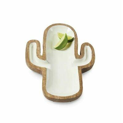 Wood & Enamel Cactus Bowl