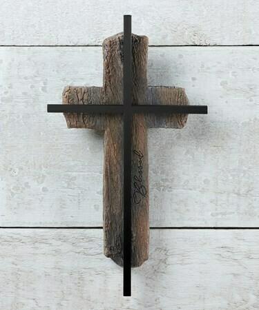 Cross w metal BLESSED