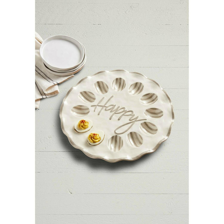 Happy Ruffle Deviled Egg Tray