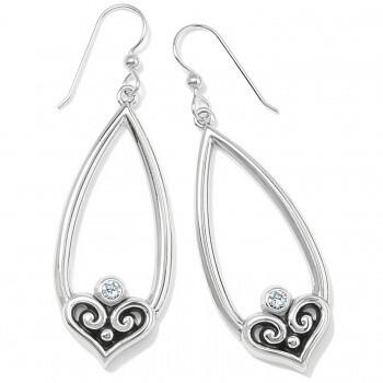 BR JA7351 Alcazar Heart Teardrop French Wire Earrings