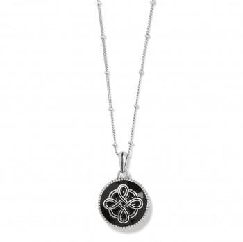 BR JM3903 Interlock Noir Reversible Necklace